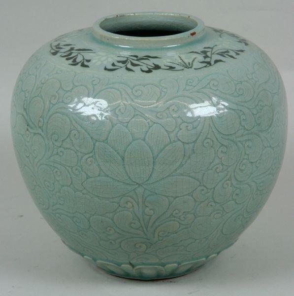 7003: Celadon Glazed Jar