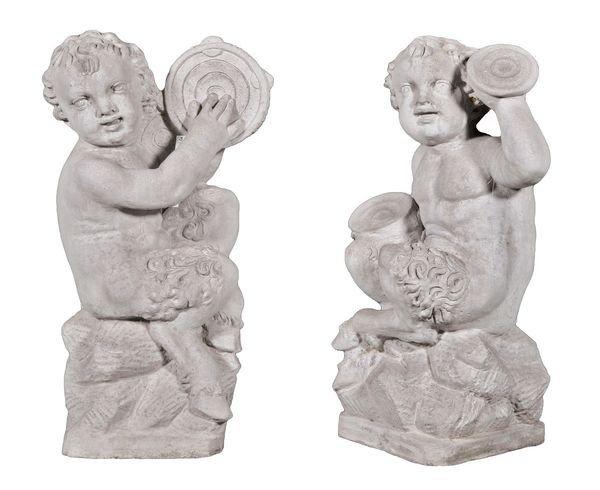 8005: Pair of Satyr Figures