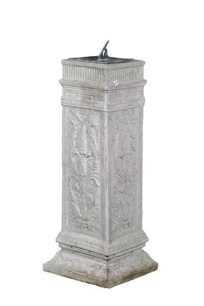 8008: Ornate Pedestal with Lead Sundial