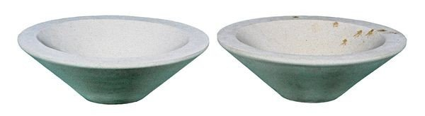 8012: Pair of Dry Cast Limestone Planters