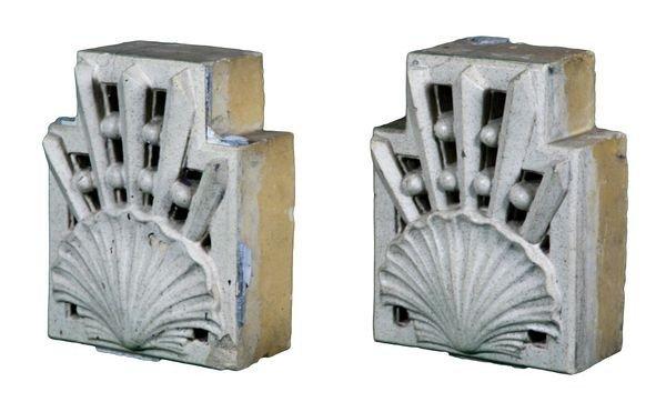 8013: Pair of Antique Art Deco Architectural Blocks
