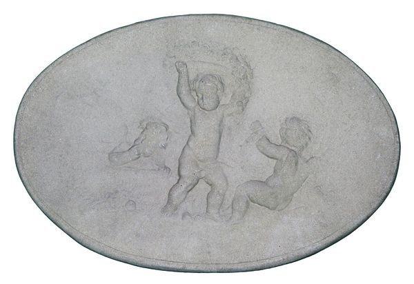 8019: English Cast Stone Plaque