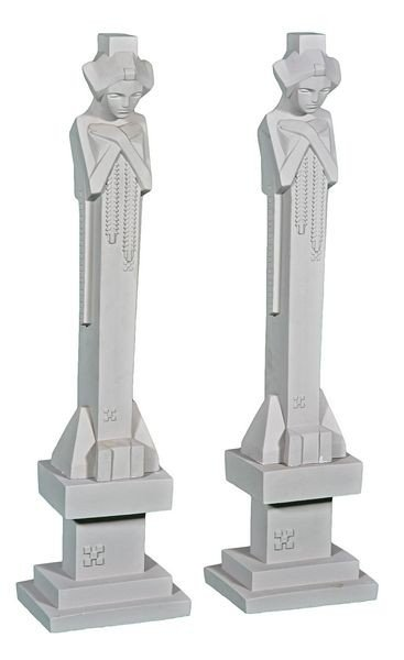 8025: Pair of Art Deco Concrete Sprites