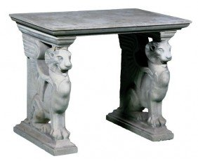 English Dry Cast Sandstone Table
