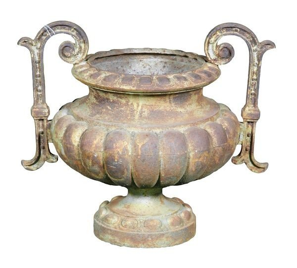 8078: C. 1890 French Cast Iron Urn