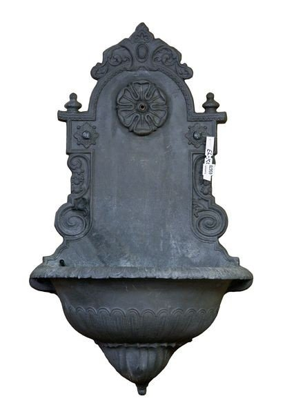 8090: English Lead Rose Medallion Lavabo