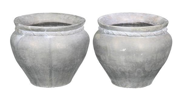 8091: Pair of English Lead Planters