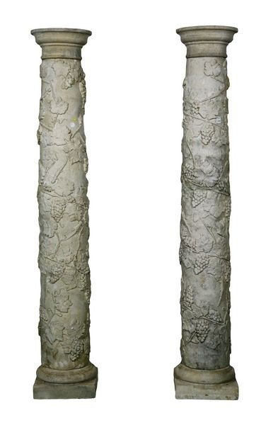 8094: English Dry Cast Limestone Columns
