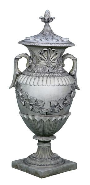 8171: Monumental English Urn with Lid