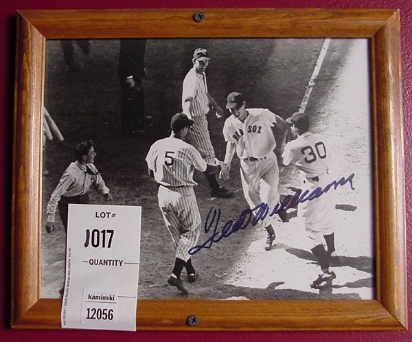 1017: TED WILLIAMS AUTOGRAPH
