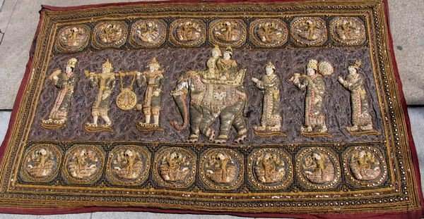 1007: Handmade Antique Kalaga Tapestry