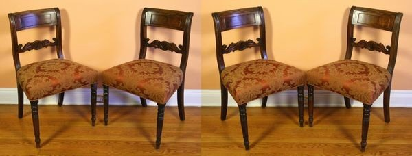 1013: Four Enlgish Mahogany Chairs