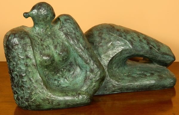 Houser, Reclining Apache Woman, Bronze