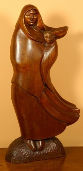 1023: Houser, Navajo Woman and Child, Mahogany