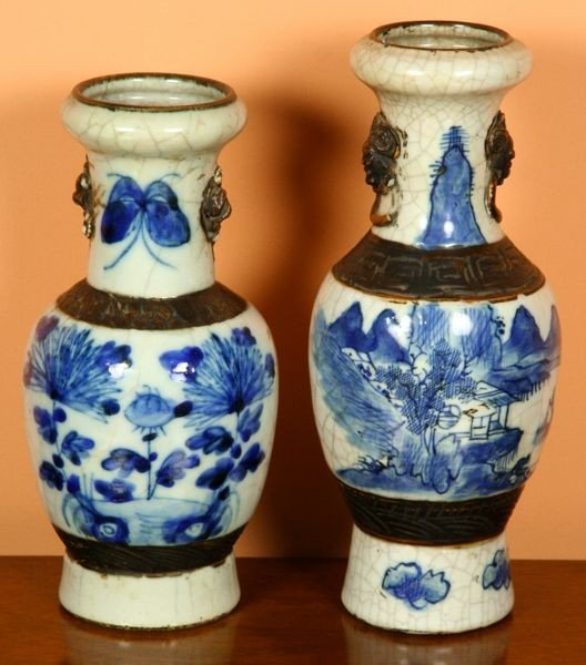 1006: Two Chinese Blue and White Porcelain Vases