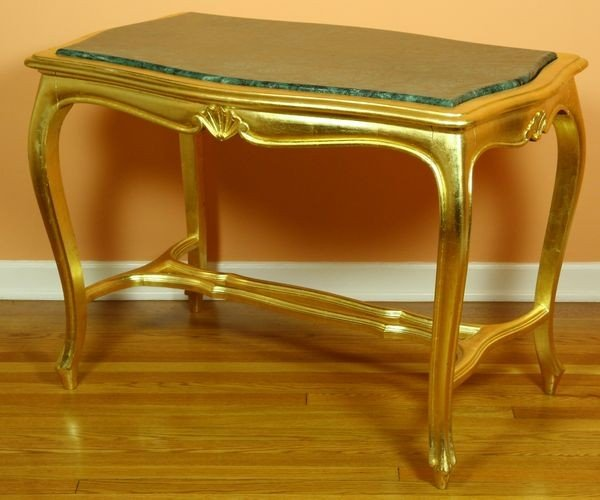 2009: 18th C. Italian Giltwood Table with Marble Insert