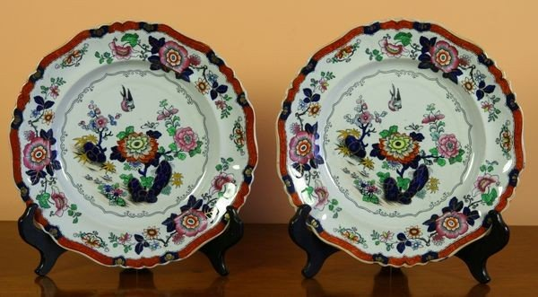 2014: Pair of 19th C. English Ironstone Plates