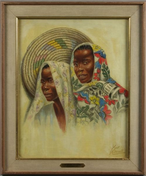 "3025: Cottrell, ""Nubian Woman"", O/C"