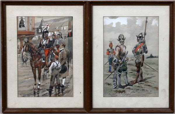 3007: Two (2) Pierre Albert Leroux Watercolors