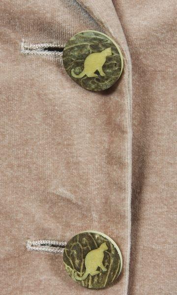 5229: Moschino Velvet Cat Blazer - 3