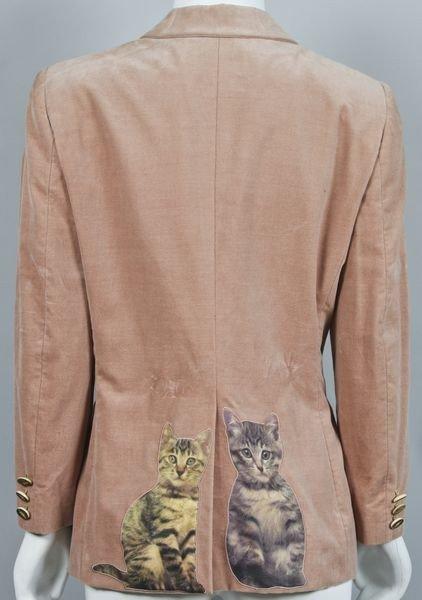 5229: Moschino Velvet Cat Blazer - 4