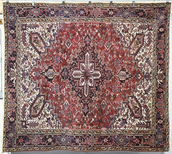 6009: Antique Persian Heriz Rug