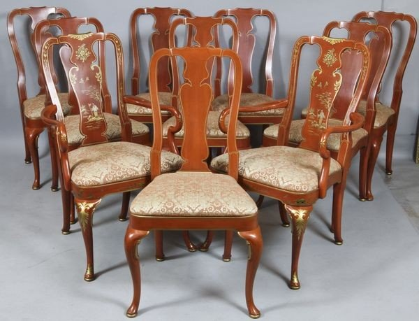6010: Eight Queen Ann Style Chairs