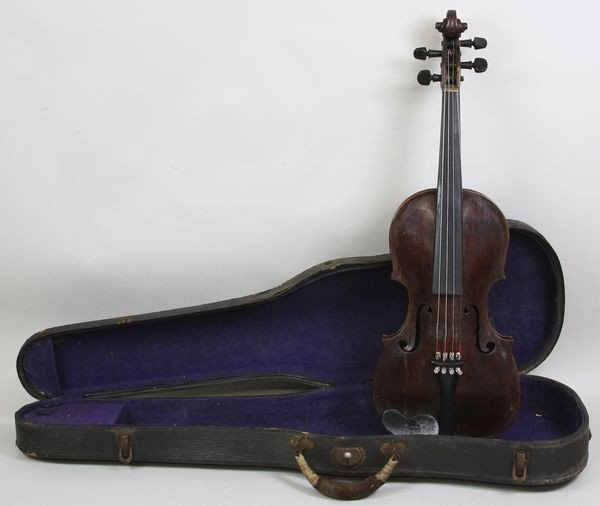 6019: Early 19th C. Violin with Case