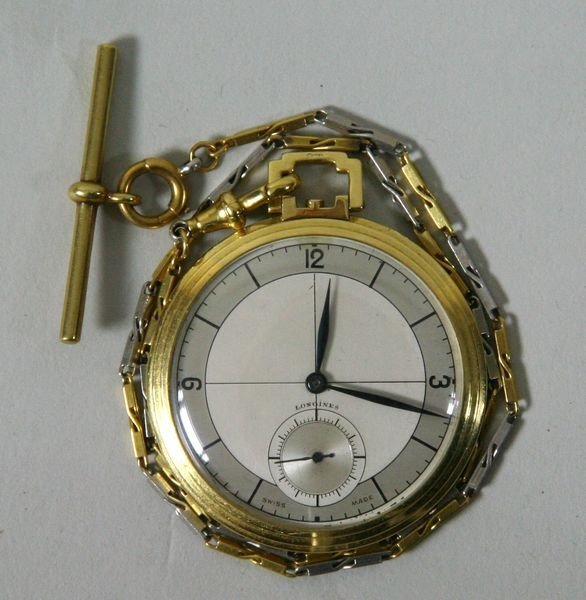 6106: 18K Yellow Gold Longines Pocket Watch