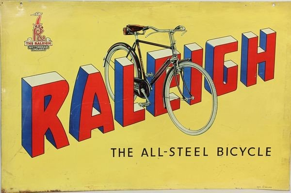 7006: Raleigh Bicycle Sign