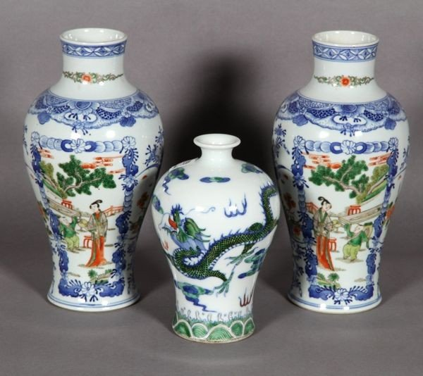 7014: Chinese Famille Rose Vases