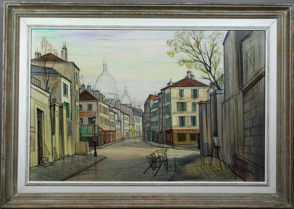 7023: 20th C. French School, View of Sacre Coeur, o/c