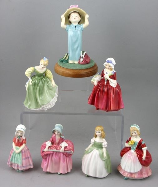 7001: Lot of Seven (7) Royal Doulton Figurines