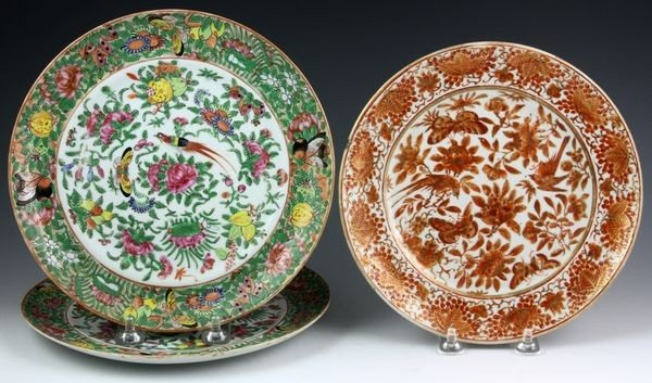1001: Three Chinese 19th C. Porcelain Plates