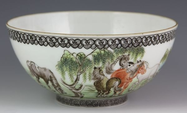 1008: Chinese Early 20th C. Famille Verte Bowl