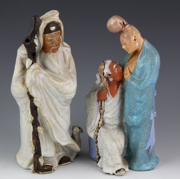 1018: Two Chinese 19th C. Porcelain Figures
