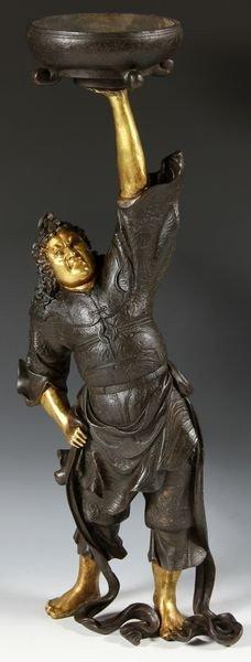 1033: Japanese 19th C. Bronze Figure