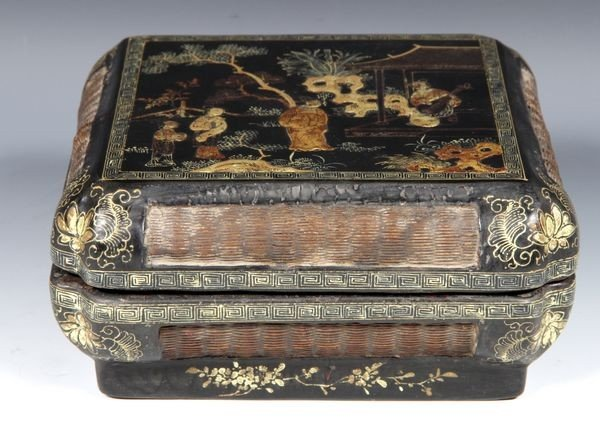 1260: Chinese 18th C. Lacquered and Gilt Box