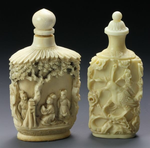 1266: Two Chinese 19th C. Ivory Snuff Bottles