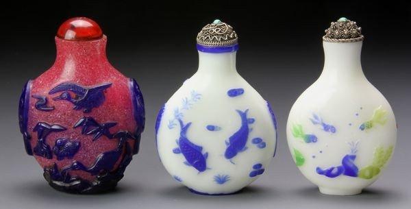 1269: Three Chinese 19th - 20th C. Snuff Bottles