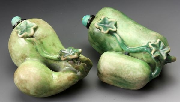 1271: Pair of Chinese 19th C. Snuff Bottles