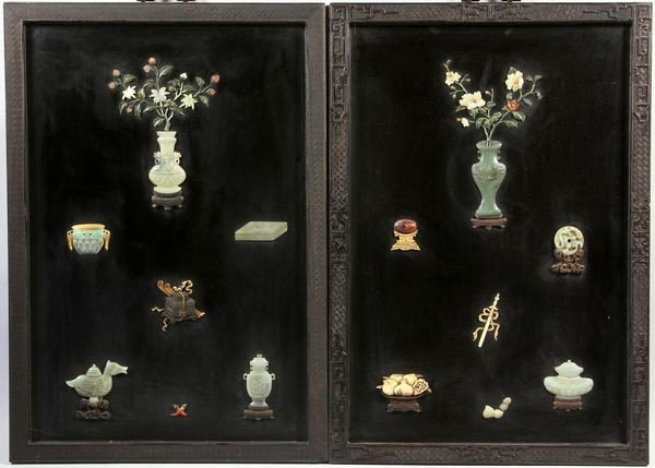 1275: Pair of Chinese Early 20th C. Plaques