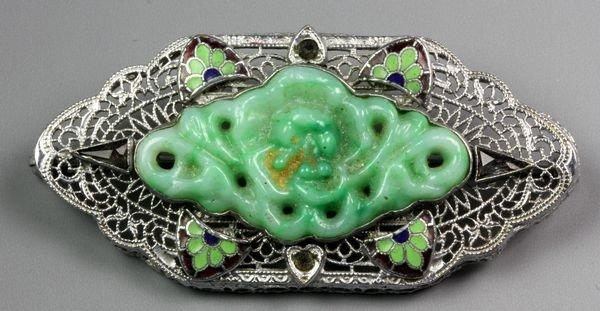 1282: Chinese 20th C. Jadeite Pin