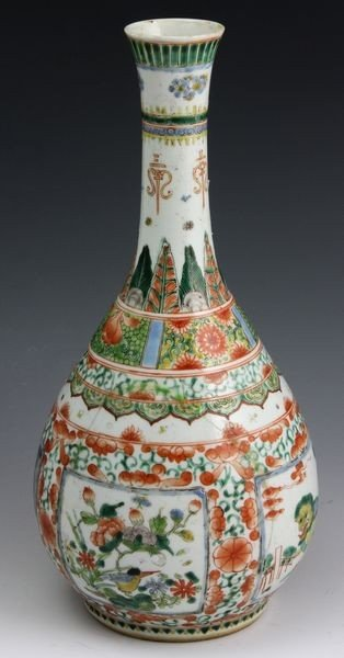 2117: Chinese 18th - 19th C. Famille Rose Vase