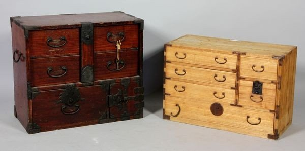 3005: Two Japanese 19th C. Wood Chests