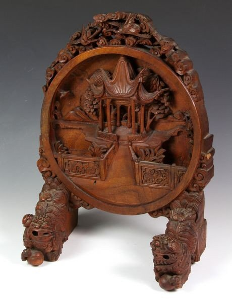 3008: Chinese Wood Plaque