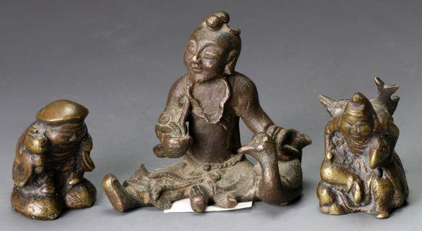 3016: Antique Bronze Weights