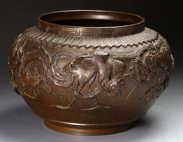 3018: Japanese 19th C. Bronze Jar