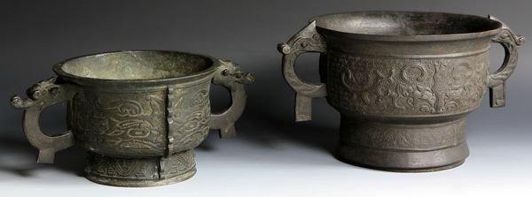 3020: Chinese Bronze Pots