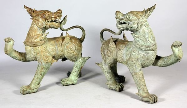 3022: Pair of Anatomically Correct Chinese Foo Dogs